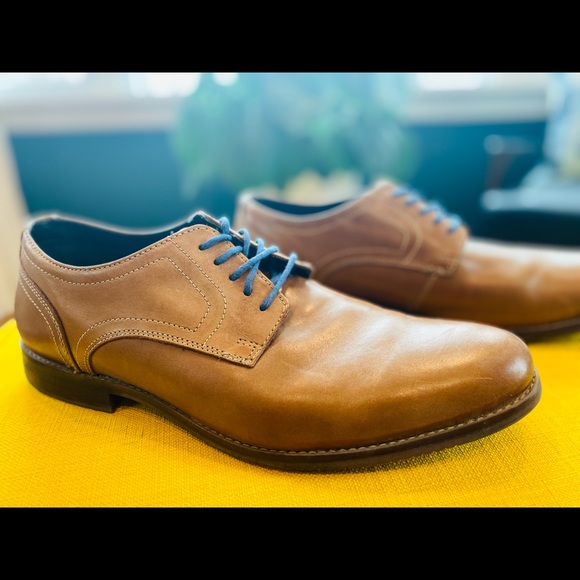 Rockport Men's Tan Brown Leather Oxford Size 12